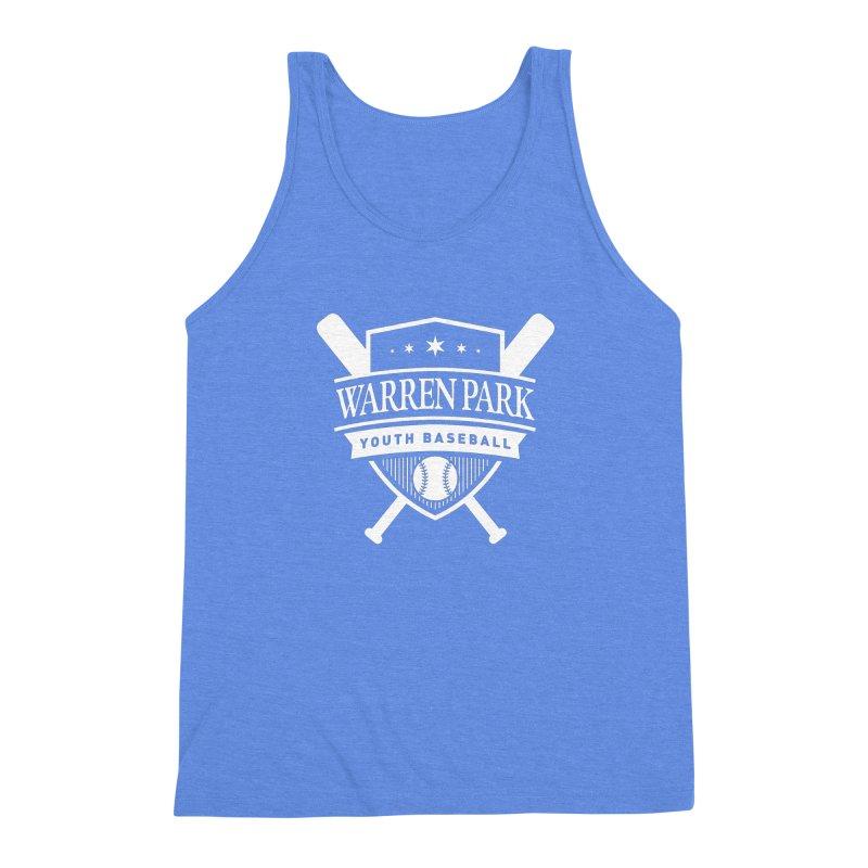 Warren Park Youth Baseball Logo - White Men's Triblend Tank by Warren Park Youth Baseball, Rogers Park Chicago