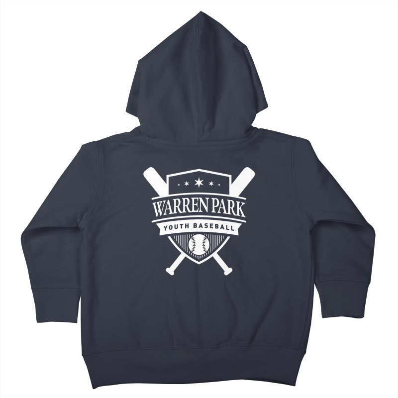 Warren Park Youth Baseball Logo - White Kids Toddler Zip-Up Hoody by Warren Park Youth Baseball, Rogers Park Chicago
