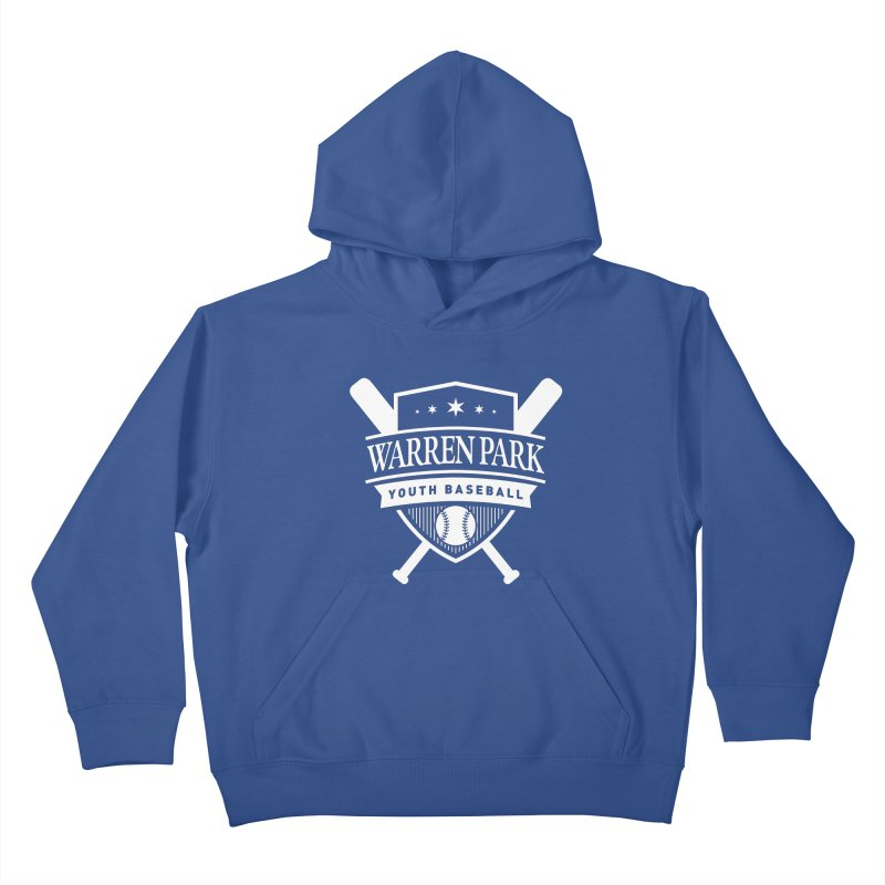 Warren Park Youth Baseball Logo - White in Kids Pullover Hoody Heather Royal by Warren Park Youth Baseball, Rogers Park Chicago