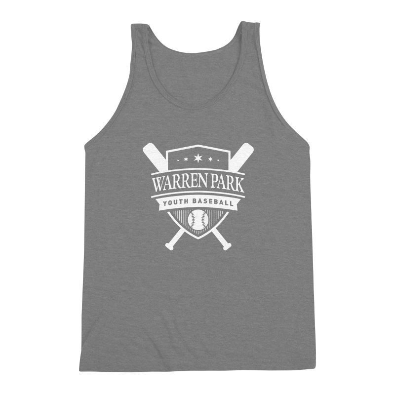Warren Park Youth Baseball Logo - White Men's Triblend Tank by Warren Park Youth Baseball, Rogers Park Chicago