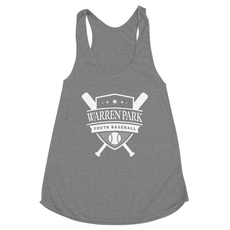 Warren Park Youth Baseball Logo - White Women's Racerback Triblend Tank by Warren Park Youth Baseball, Rogers Park Chicago