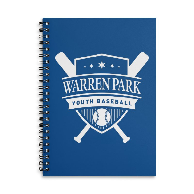 Warren Park Youth Baseball Logo - White Accessories Lined Spiral Notebook by Warren Park Youth Baseball, Rogers Park Chicago