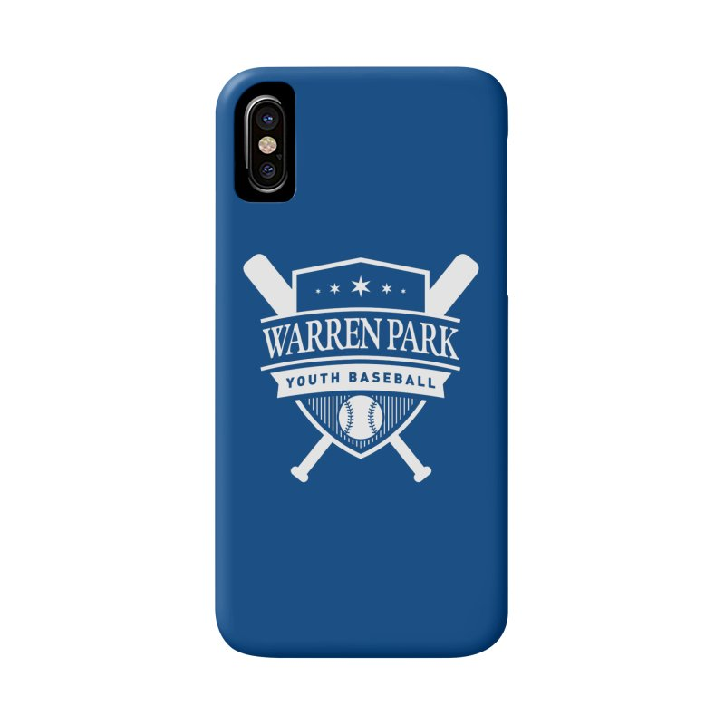 Warren Park Youth Baseball Logo - White Accessories Phone Case by Warren Park Youth Baseball, Rogers Park Chicago
