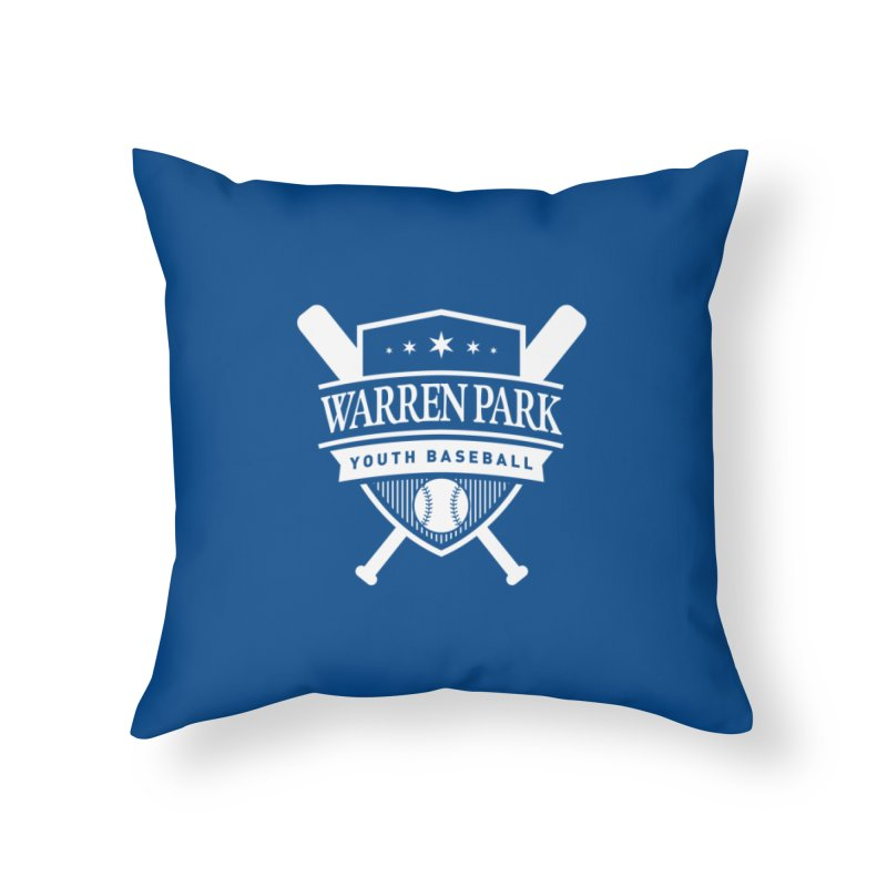 Warren Park Youth Baseball Logo - White Home Throw Pillow by Warren Park Youth Baseball, Rogers Park Chicago