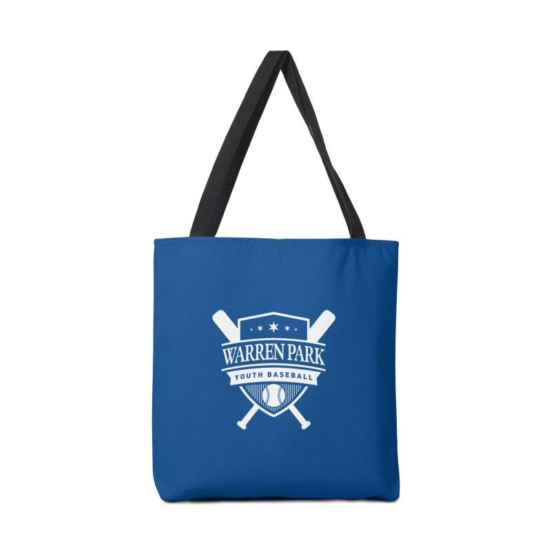 Warren Park Youth Baseball Logo - White Accessories Bag by Warren Park Youth Baseball, Rogers Park Chicago