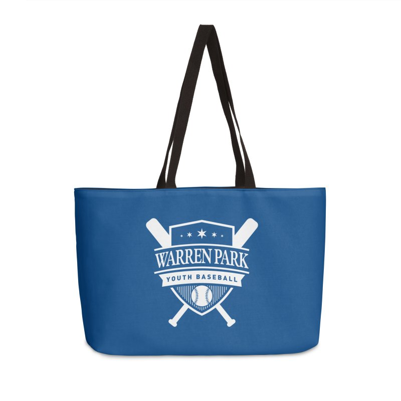 Warren Park Youth Baseball Logo - White Accessories Weekender Bag Bag by Warren Park Youth Baseball, Rogers Park Chicago