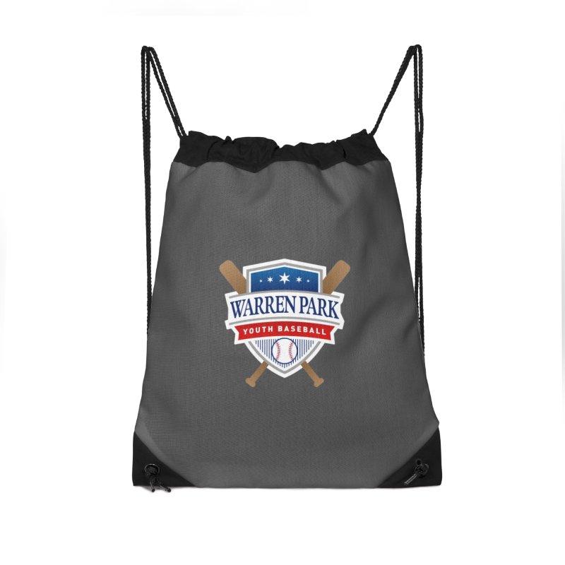 Warren Park Youth Baseball Logo - Full Color Accessories Drawstring Bag Bag by Warren Park Youth Baseball, Rogers Park Chicago
