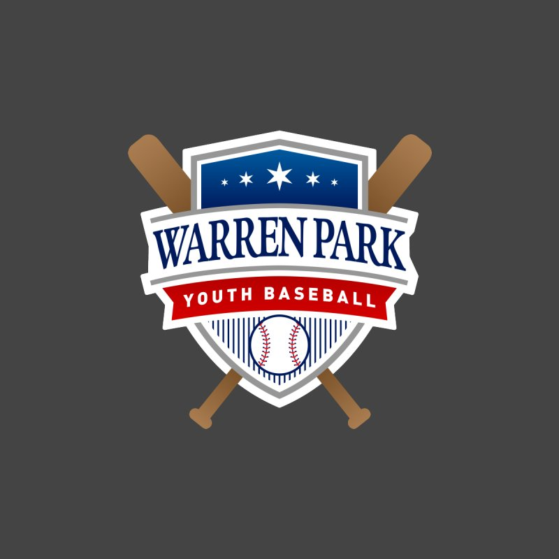 Warren Park Youth Baseball Logo - Full Color Men's Longsleeve T-Shirt by Warren Park Youth Baseball, Rogers Park Chicago