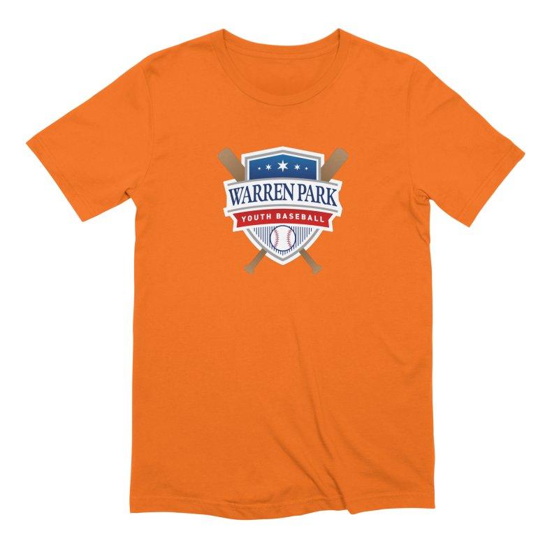 Warren Park Youth Baseball Logo - Full Color Men's Extra Soft T-Shirt by Warren Park Youth Baseball, Rogers Park Chicago