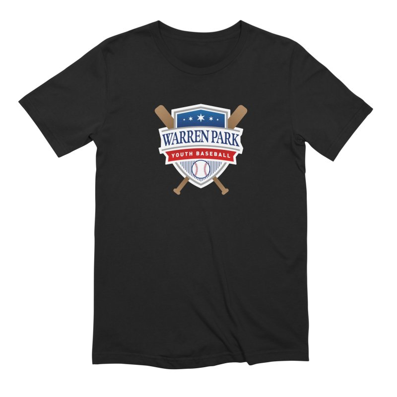 Warren Park Youth Baseball Logo - Full Color Men's Extra Soft T-Shirt by Warren Park Youth Baseball, Rogers Park Chicago