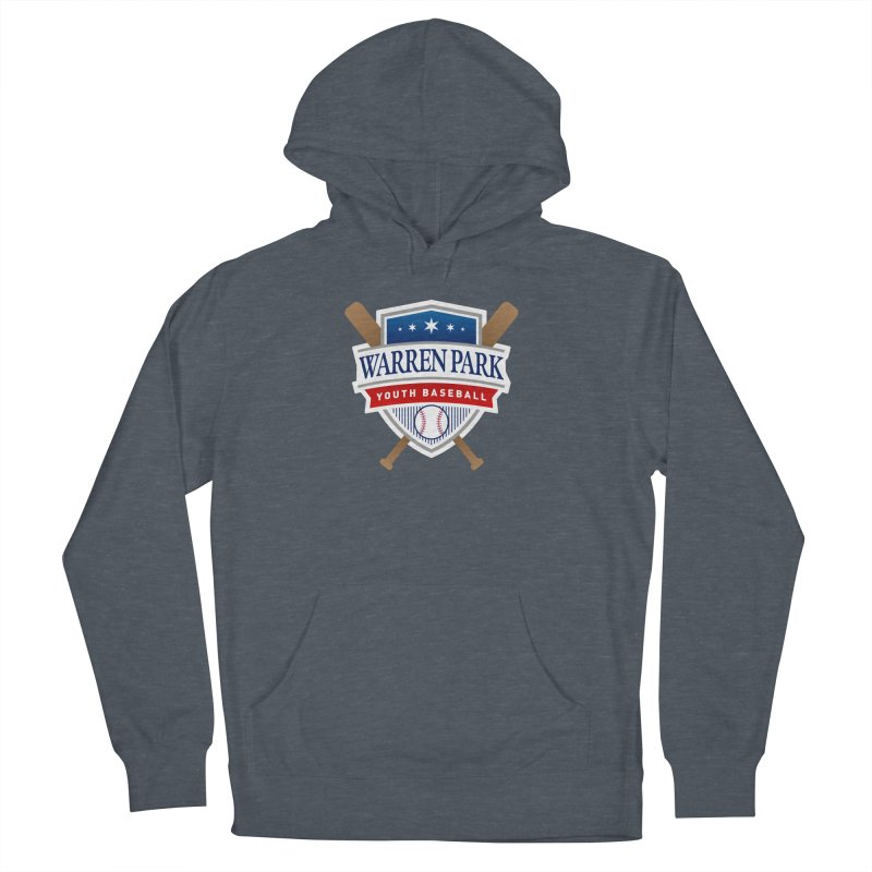 Warren Park Youth Baseball Logo - Full Color in Women's French Terry Pullover Hoody Heather Navy Denim by Warren Park Youth Baseball, Rogers Park Chicago