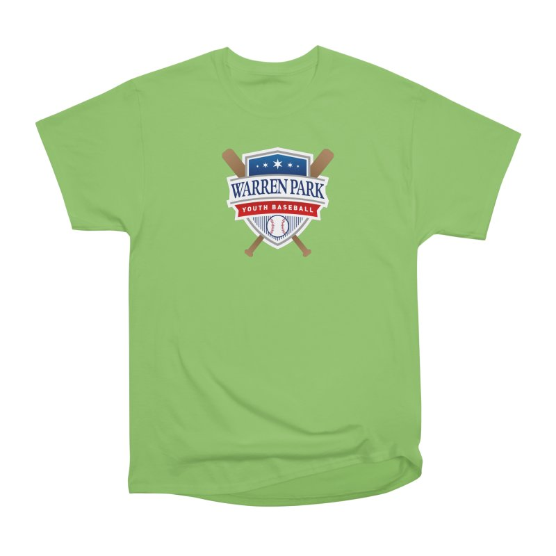 Warren Park Youth Baseball Logo - Full Color Women's Heavyweight Unisex T-Shirt by Warren Park Youth Baseball, Rogers Park Chicago