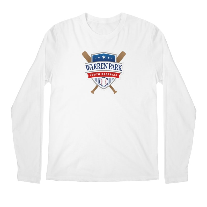Warren Park Youth Baseball Logo - Full Color Men's Regular Longsleeve T-Shirt by Warren Park Youth Baseball, Rogers Park Chicago