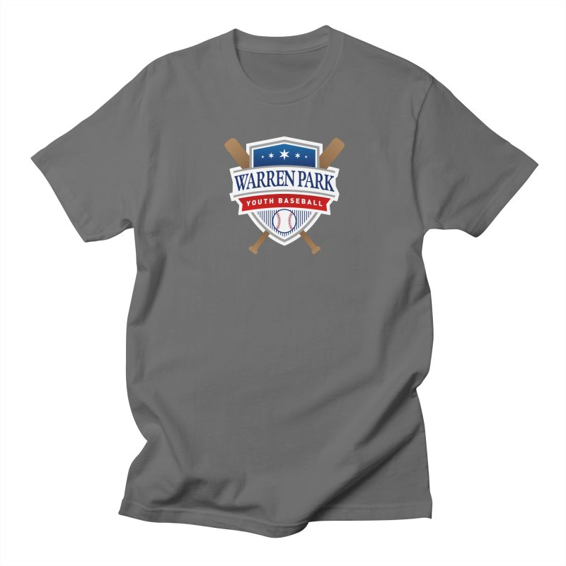 Warren Park Youth Baseball Logo - Full Color in Men's Regular T-Shirt Asphalt by Warren Park Youth Baseball, Rogers Park Chicago