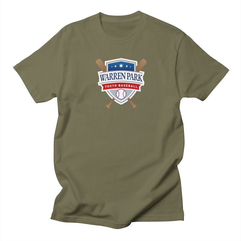 Warren Park Youth Baseball Logo - Full Color Men's Regular T-Shirt by Warren Park Youth Baseball, Rogers Park Chicago