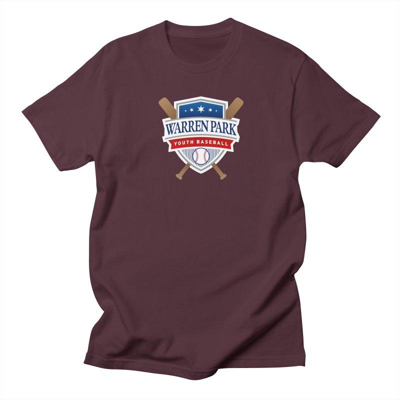 Warren Park Youth Baseball Logo - Full Color Men's Regular T-Shirt by Warren Park Youth Baseball, Rogers Park Chicago