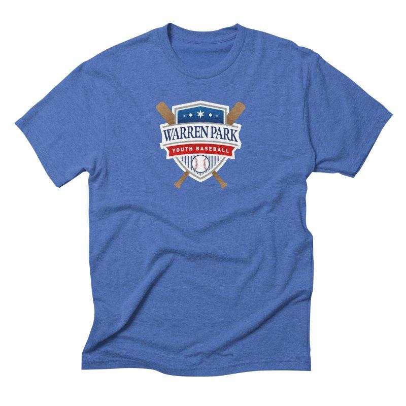 Warren Park Youth Baseball Logo - Full Color Men's Triblend T-Shirt by Warren Park Youth Baseball, Rogers Park Chicago