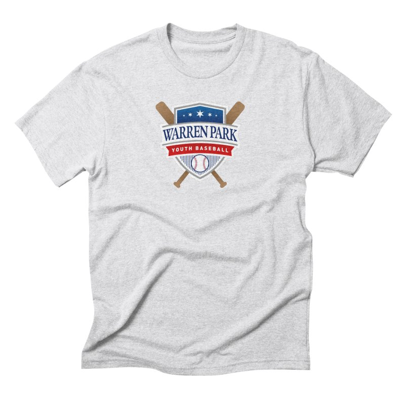Warren Park Youth Baseball Logo - Full Color Men's Triblend T-Shirt by Warren Park Youth Baseball, Rogers Park Chicago
