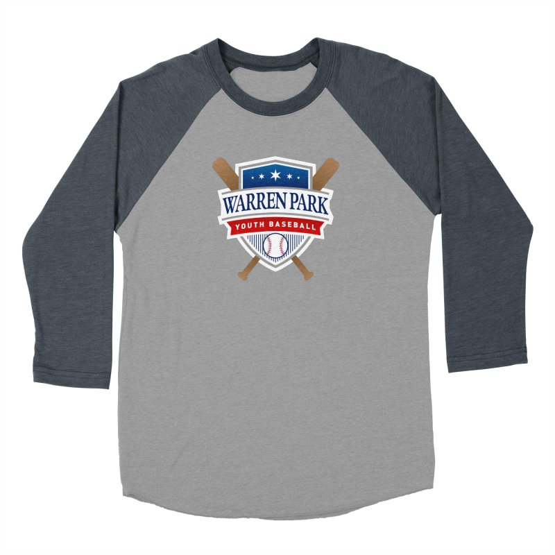 Warren Park Youth Baseball Logo - Full Color Women's Baseball Triblend Longsleeve T-Shirt by Warren Park Youth Baseball, Rogers Park Chicago