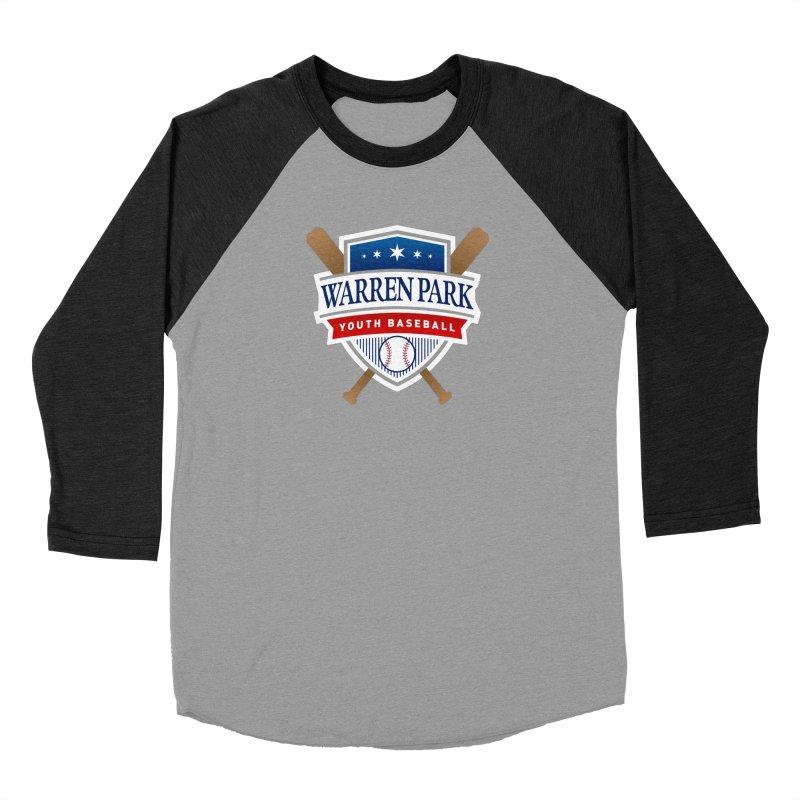 Warren Park Youth Baseball Logo - Full Color Men's Baseball Triblend Longsleeve T-Shirt by Warren Park Youth Baseball, Rogers Park Chicago