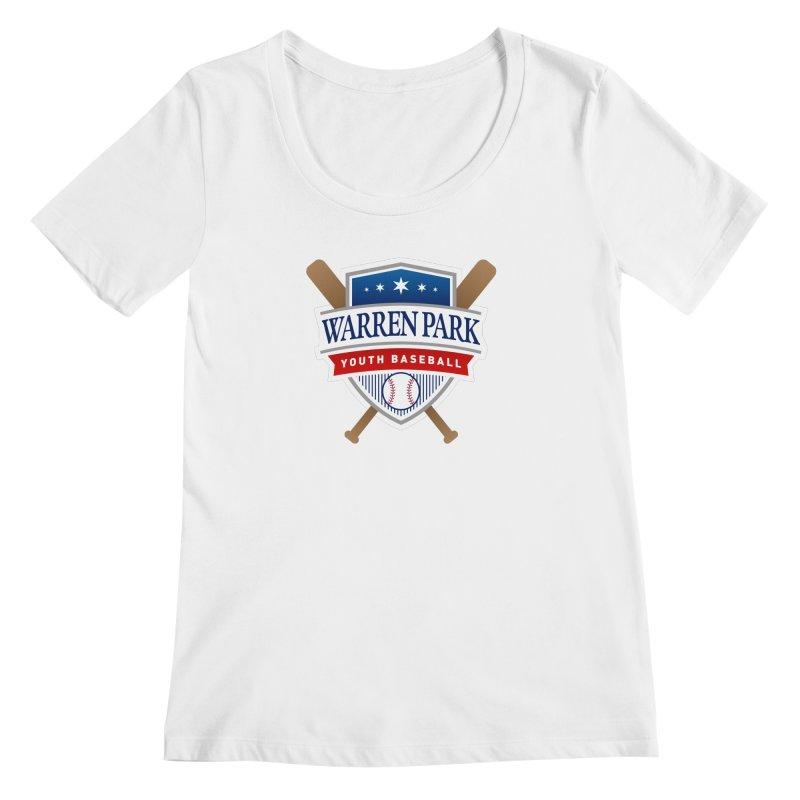 Warren Park Youth Baseball Logo - Full Color Women's Regular Scoop Neck by Warren Park Youth Baseball, Rogers Park Chicago
