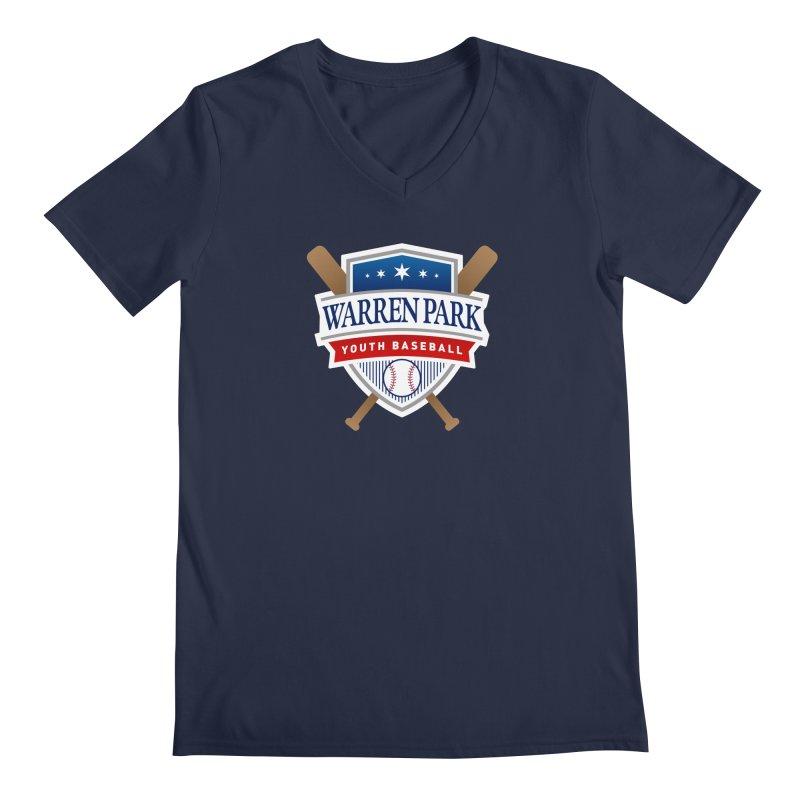 Warren Park Youth Baseball Logo - Full Color Men's Regular V-Neck by Warren Park Youth Baseball, Rogers Park Chicago