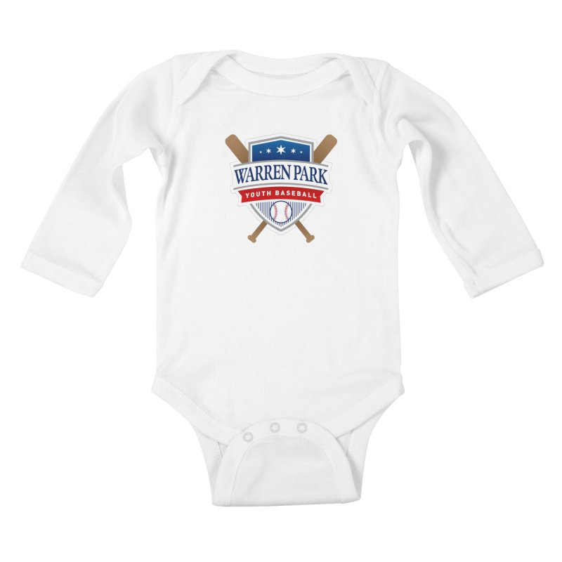 Warren Park Youth Baseball Logo - Full Color Kids Baby Longsleeve Bodysuit by Warren Park Youth Baseball, Rogers Park Chicago
