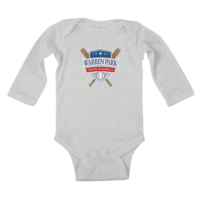 Warren Park Youth Baseball Logo - Full Color in Kids Baby Longsleeve Bodysuit Heather Grey by Warren Park Youth Baseball, Rogers Park Chicago