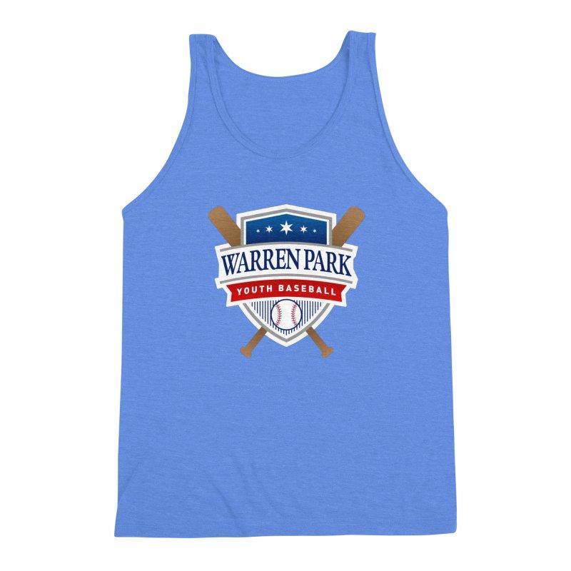 Warren Park Youth Baseball Logo - Full Color Men's Triblend Tank by Warren Park Youth Baseball, Rogers Park Chicago
