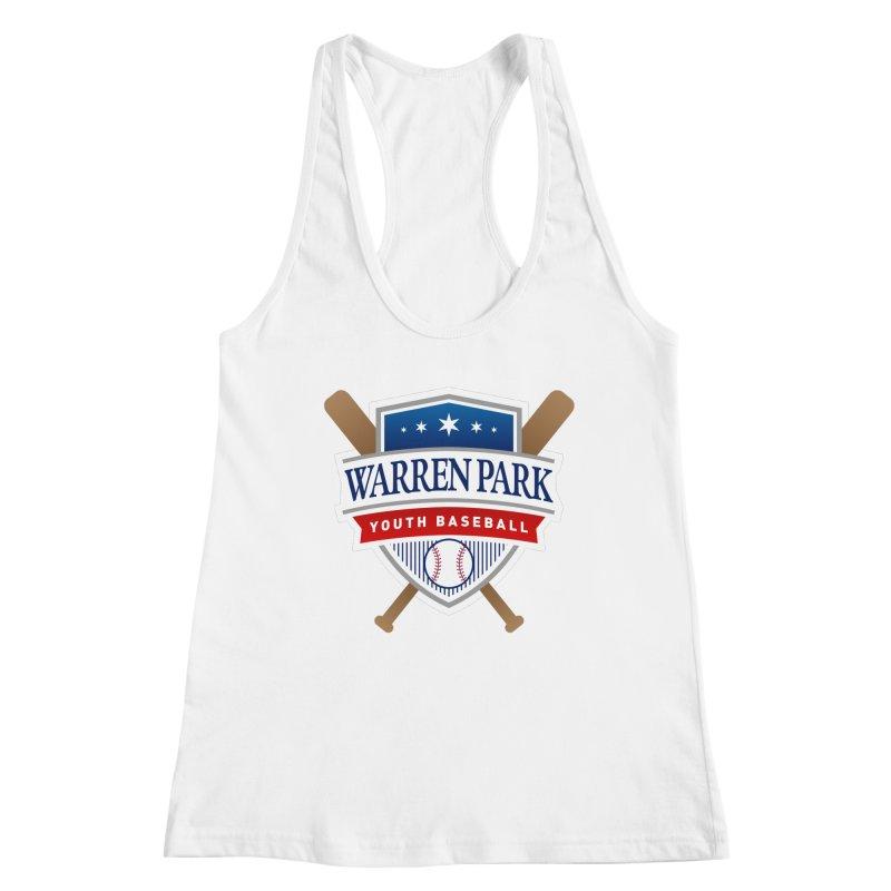 Warren Park Youth Baseball Logo - Full Color Women's Racerback Tank by Warren Park Youth Baseball, Rogers Park Chicago