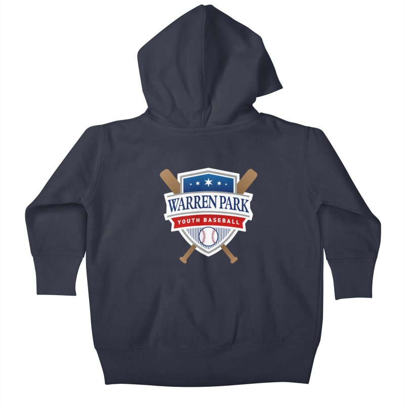 Warren Park Youth Baseball Logo - Full Color Kids Baby Zip-Up Hoody by Warren Park Youth Baseball, Rogers Park Chicago