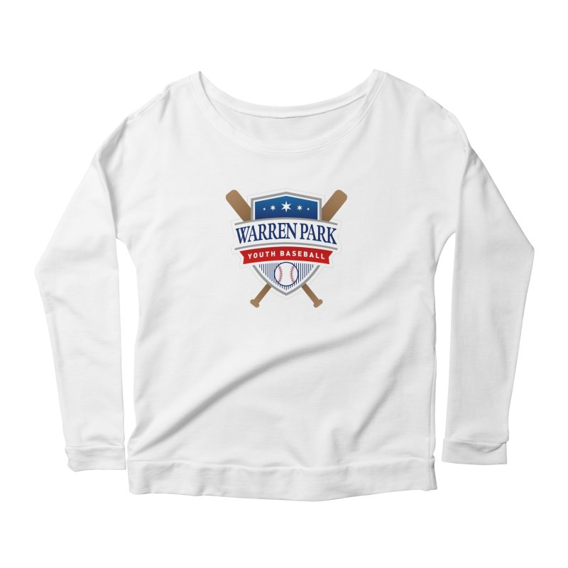 Warren Park Youth Baseball Logo - Full Color in Women's Scoop Neck Longsleeve T-Shirt White by Warren Park Youth Baseball, Rogers Park Chicago