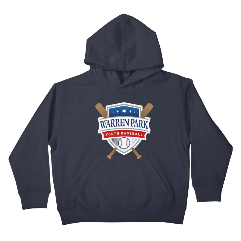 Warren Park Youth Baseball Logo - Full Color in Kids Pullover Hoody Midnight by Warren Park Youth Baseball, Rogers Park Chicago
