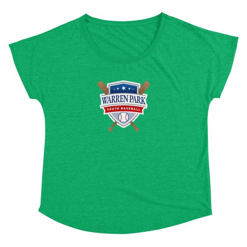 Warren Park Youth Baseball Logo - Full Color Women's Dolman Scoop Neck by Warren Park Youth Baseball, Rogers Park Chicago