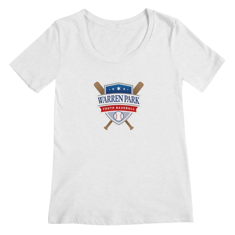 Warren Park Youth Baseball Logo - Full Color Women's Scoop Neck by Warren Park Youth Baseball, Rogers Park Chicago
