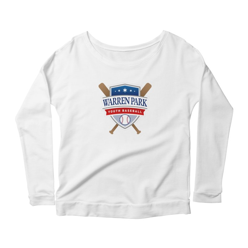 Warren Park Youth Baseball Logo - Full Color Women's Scoop Neck Longsleeve T-Shirt by Warren Park Youth Baseball, Rogers Park Chicago