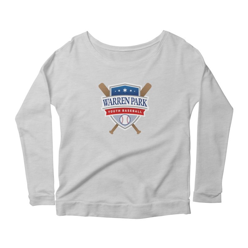 Warren Park Youth Baseball Logo - Full Color Women's Scoop Neck Longsleeve T-Shirt by Warren Park Youth Baseball, Rogers Park Chicago