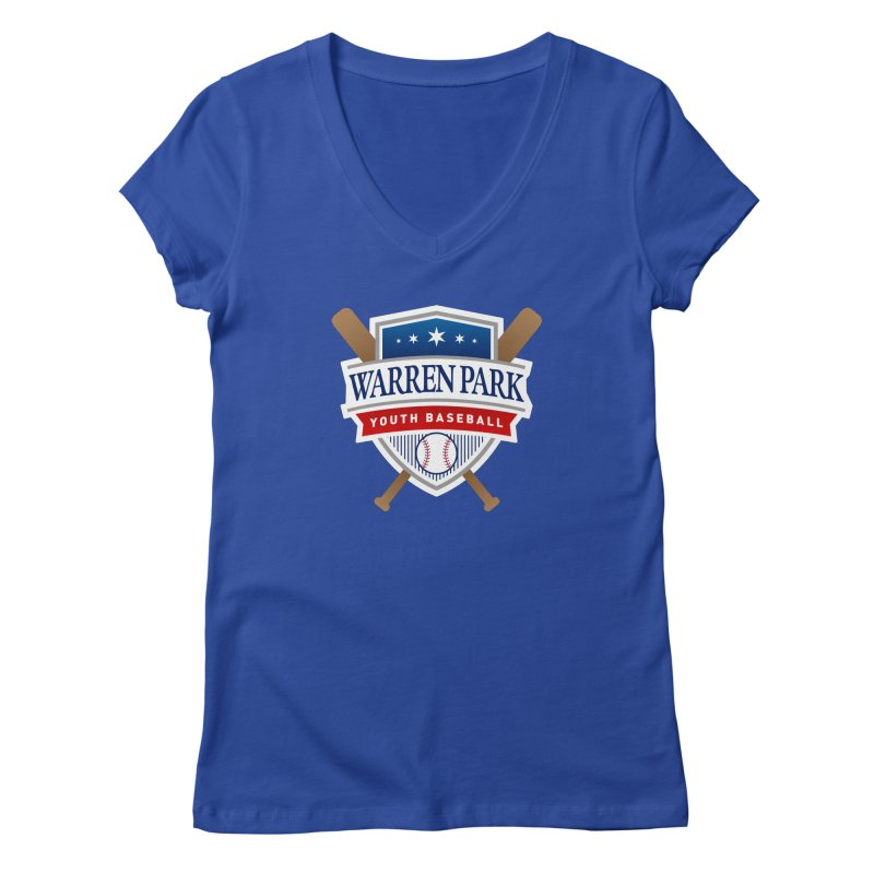 Warren Park Youth Baseball Logo - Full Color Women's Regular V-Neck by Warren Park Youth Baseball, Rogers Park Chicago