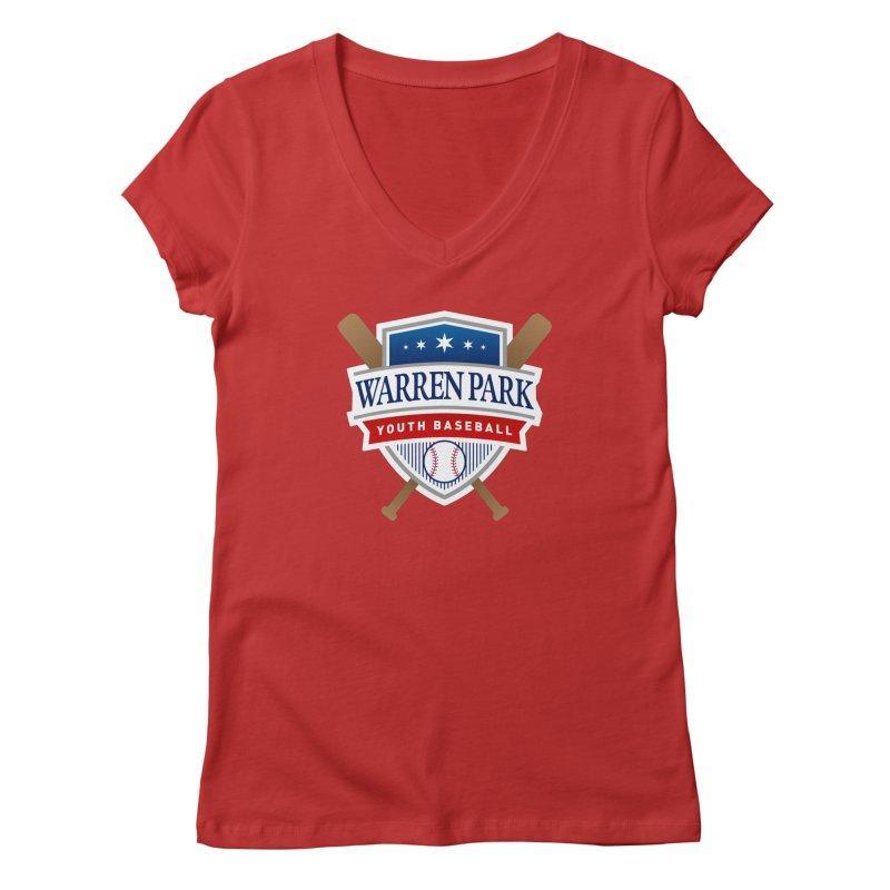 Warren Park Youth Baseball Logo - Full Color Women's Regular V-Neck by Warren Park Youth Baseball, Rogers Park Chicago
