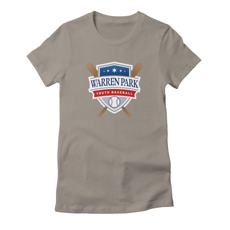 Warren Park Youth Baseball Logo - Full Color Women's Fitted T-Shirt by Warren Park Youth Baseball, Rogers Park Chicago