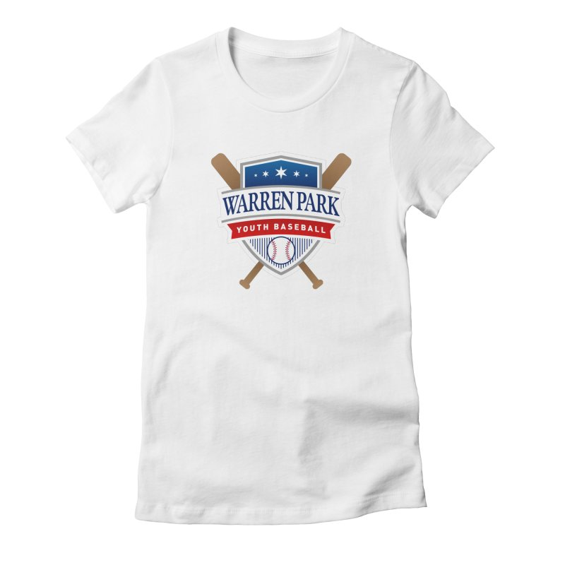 Warren Park Youth Baseball Logo - Full Color Women's Fitted T-Shirt by Warren Park Youth Baseball, Rogers Park Chicago