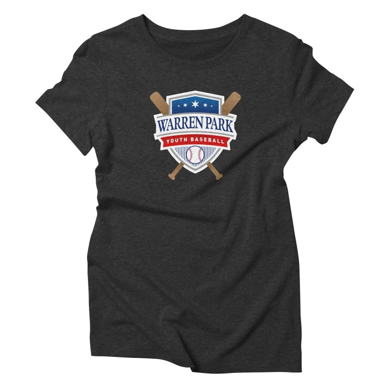 Warren Park Youth Baseball Logo - Full Color Women's Triblend T-Shirt by Warren Park Youth Baseball, Rogers Park Chicago