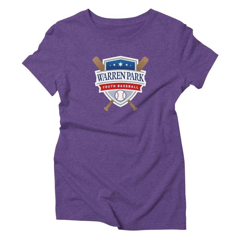 Warren Park Youth Baseball Logo - Full Color Women's Triblend T-Shirt by Warren Park Youth Baseball, Rogers Park Chicago