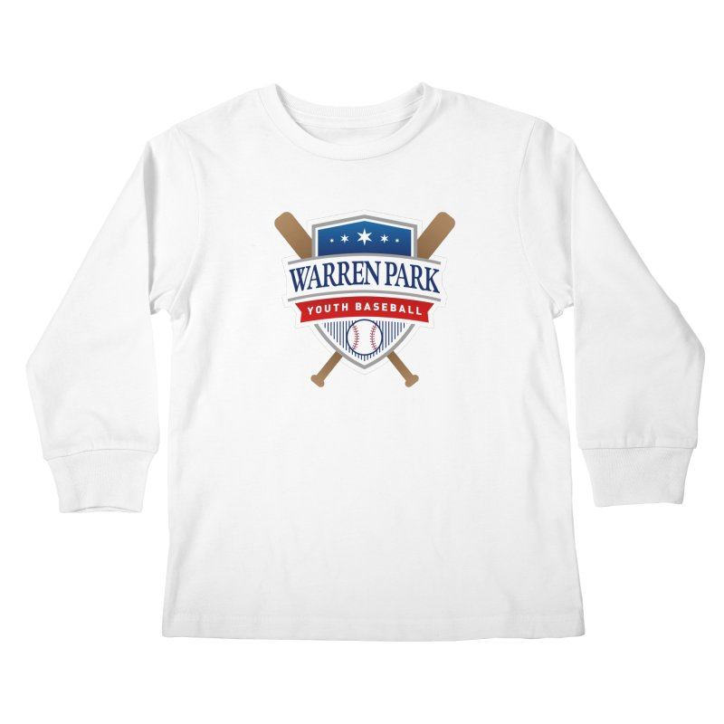 Warren Park Youth Baseball Logo - Full Color in Kids Longsleeve T-Shirt White by Warren Park Youth Baseball, Rogers Park Chicago
