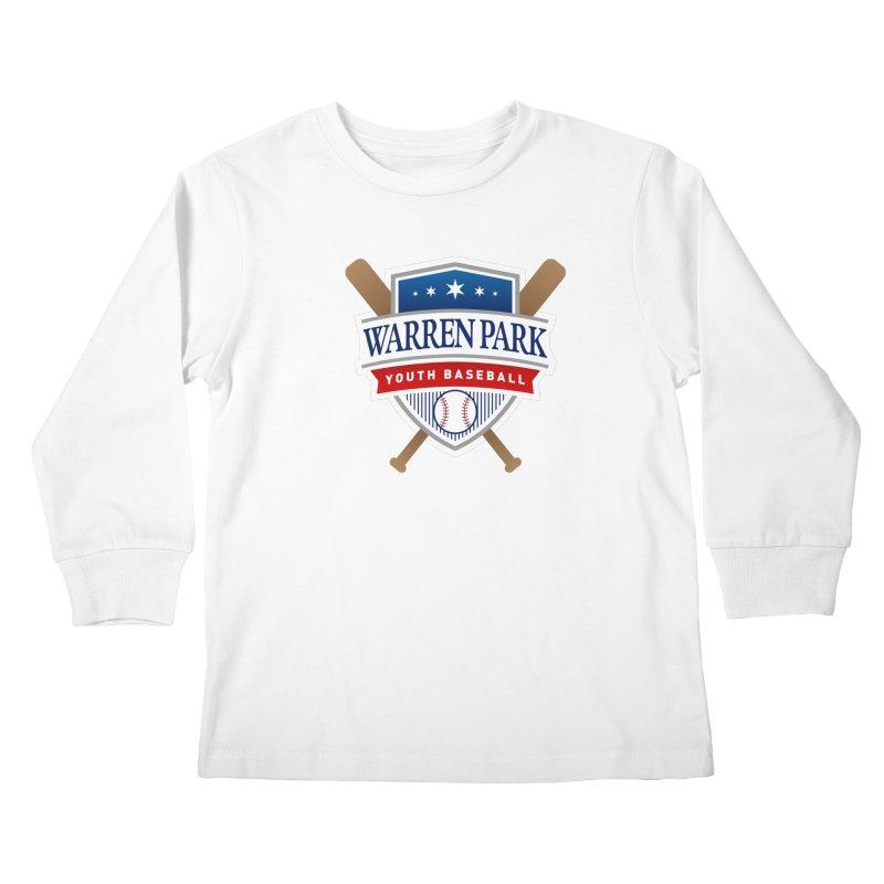Warren Park Youth Baseball Logo - Full Color in Kids Longsleeve T-Shirt White by Warren Park Youth Baseball, Rogers Park Chicago