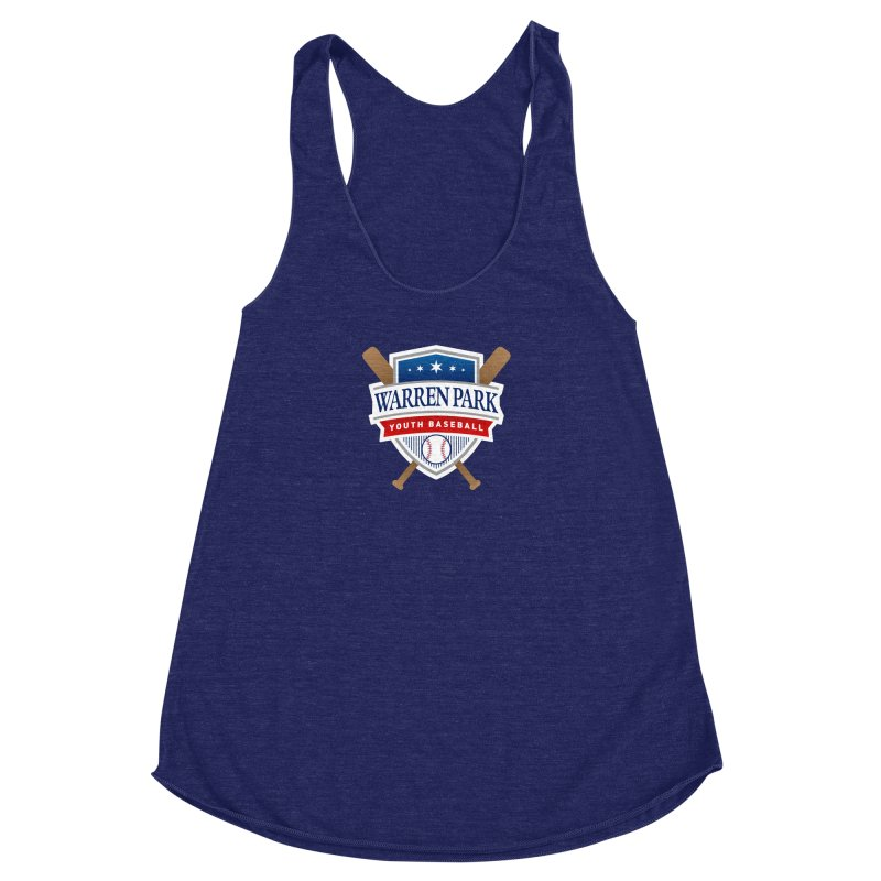 Warren Park Youth Baseball Logo - Full Color Women's Racerback Triblend Tank by Warren Park Youth Baseball, Rogers Park Chicago