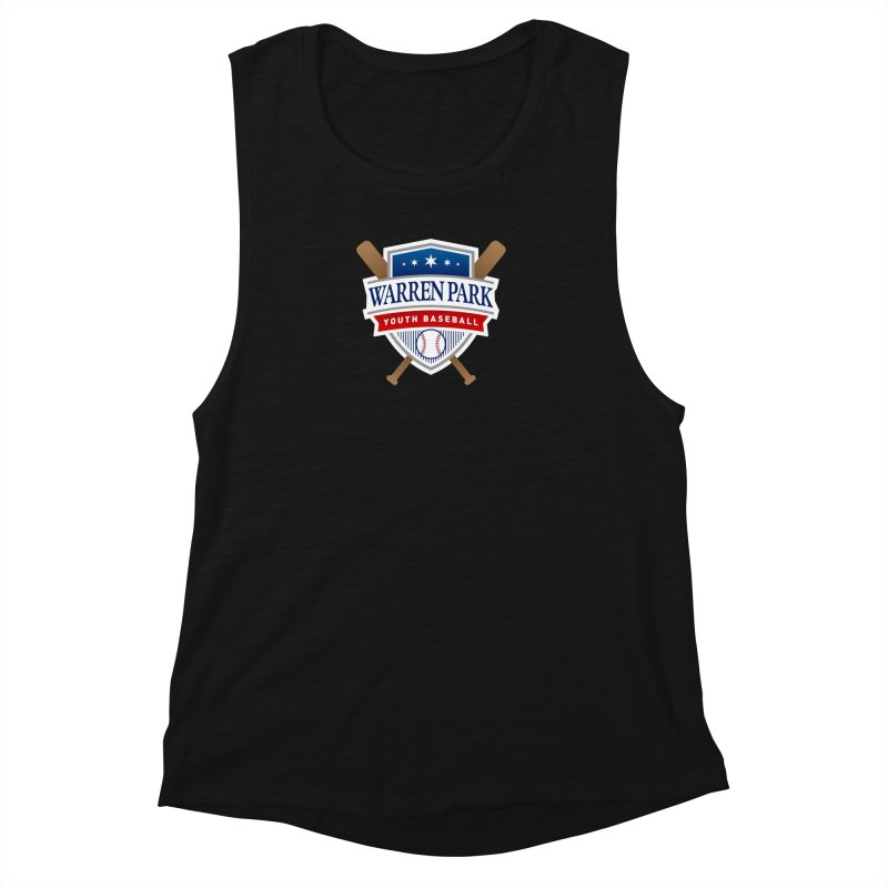 Warren Park Youth Baseball Logo - Full Color Women's Muscle Tank by Warren Park Youth Baseball, Rogers Park Chicago