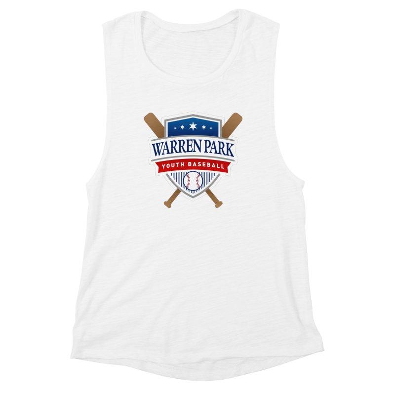 Warren Park Youth Baseball Logo - Full Color Women's Muscle Tank by Warren Park Youth Baseball, Rogers Park Chicago