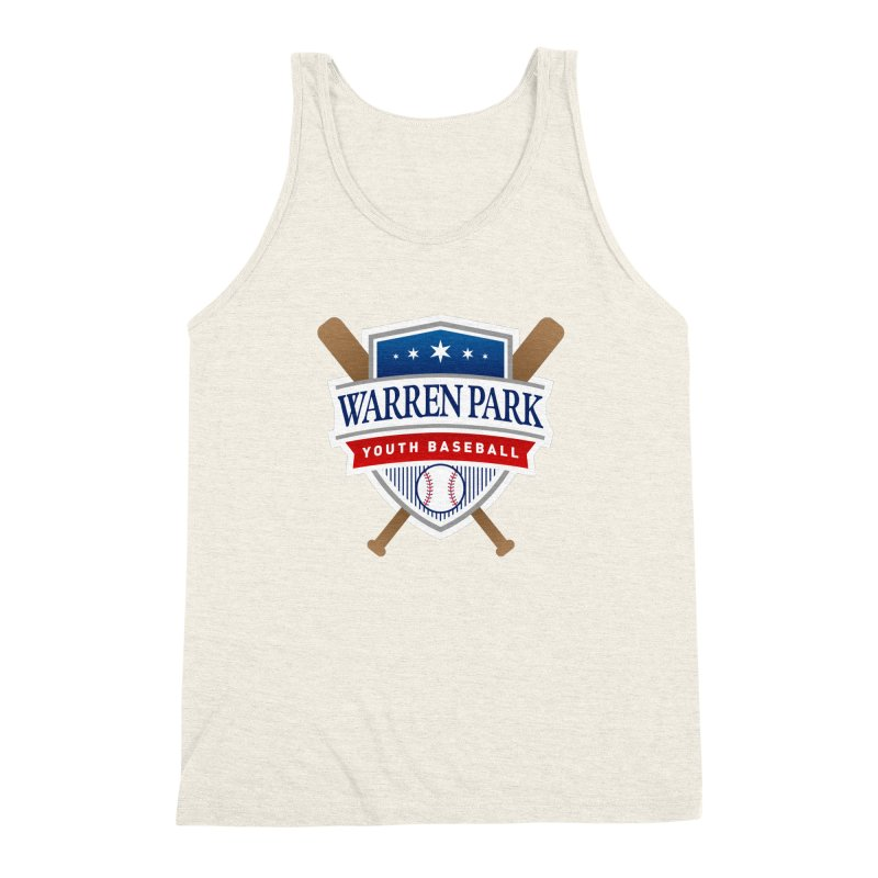 Warren Park Youth Baseball Logo - Full Color Men's Triblend Tank by Warren Park Youth Baseball, Rogers Park Chicago
