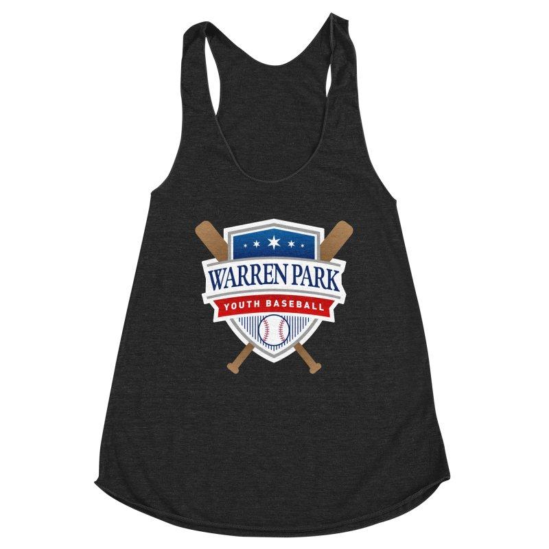 Warren Park Youth Baseball Logo - Full Color Women's Racerback Triblend Tank by Warren Park Youth Baseball, Rogers Park Chicago